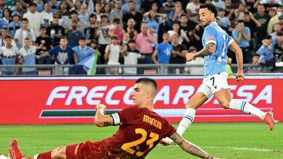 Lazio squeeze past Mourinho's Roma in derby, Dybala woe for Juventus