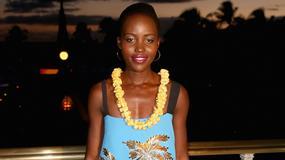 Lupita Nyong'o w oryginalnej sukience w palmy