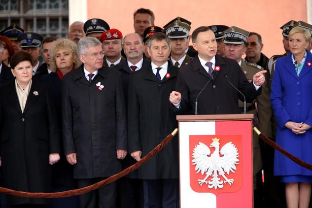 Wystąpienie prezydenta Andrzeja Dudy podczas centralnych obchodów Święta Narodowego 3 Maja