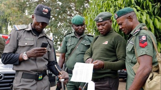 Police officers on duty during a Nigerian election (Punch)