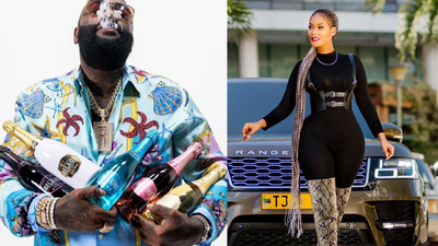Rapper Rick Ross raises eyebrows with Comments on Hamisa Mobetto's Photos (Screenshots)