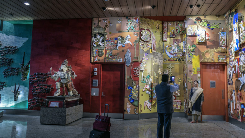 Welcome to Mumbai Airport, your gate is past the art museum