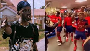 Video: Black Sherif goes global as players of Ligue 1 club jam to his 'second sermon'
