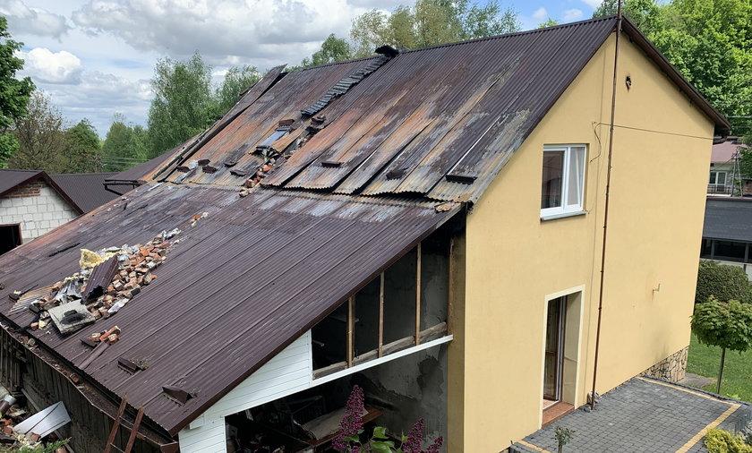 Złośliwiec podpalił dom w Łopuszce Wielkiej koło Przeworska.