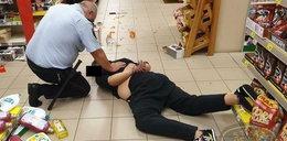 Nożownik w supermarkecie. Groził klientom, a potem zaatakował