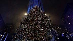 Na choince w nowojorskim Rockefeller Center zapłonęło 50 tys. kolorowych świateł