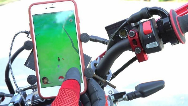 Pokemon GO na motocyklu