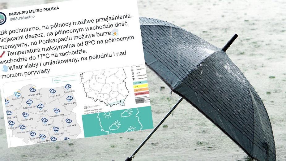 Prognoza pogody na sobotę. Będzie deszczowo [sobota, 18 września 2021 r.]