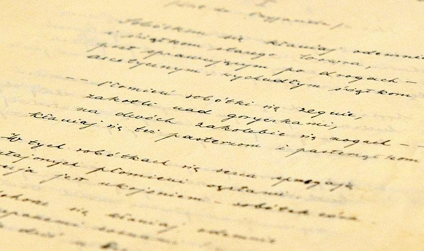 Ręcznie napisane utwory literackie papieża