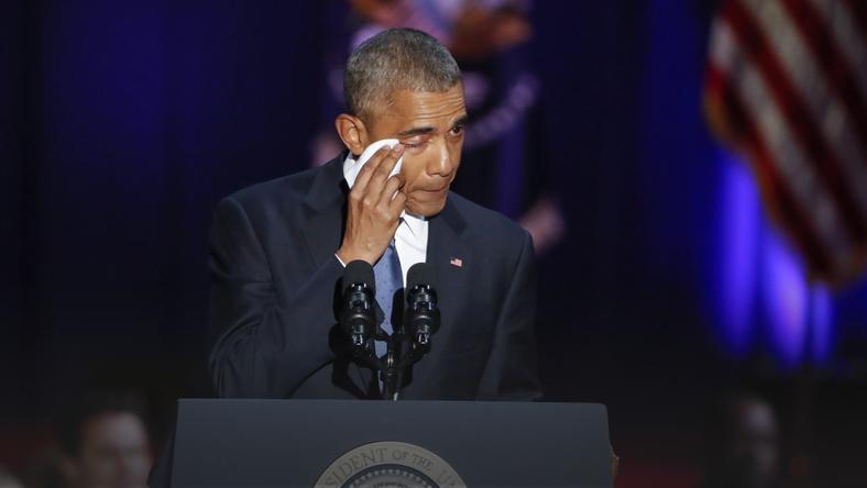 Prezydent Barack Obama podczas przemówienia w McCormick Place
