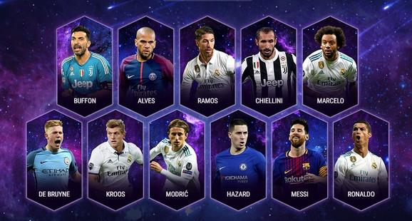 UEFA tim godine za 2017.