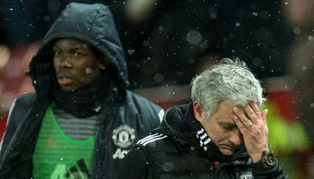 Paul Pogba (left) had a difficult relationship with Jose Mourinho towards the end of the manager's spell at Manchester United