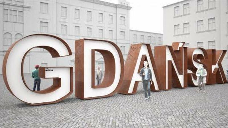 Gdańsk doczekał się wielkiego napisu