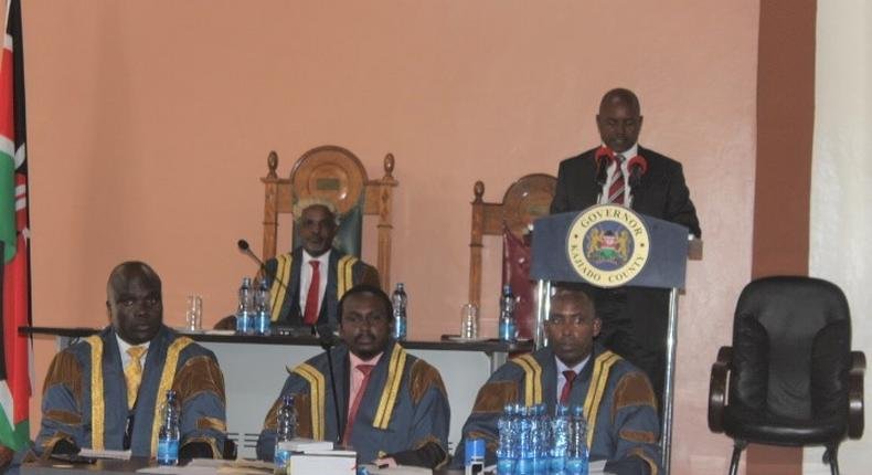 File image of the Kajiado county assembly during a Governor's address at a past session