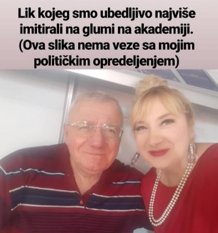 Vojislav Šešelj i Sandra Silađev, selfi