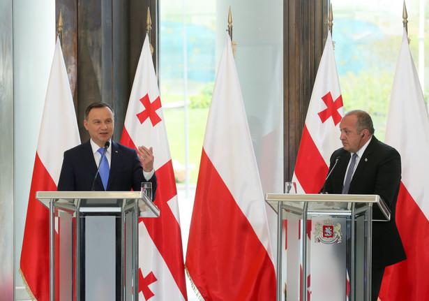 Prezydent Andrzej Duda i prezydent Gruzji Giorgi Margwelaszwili
