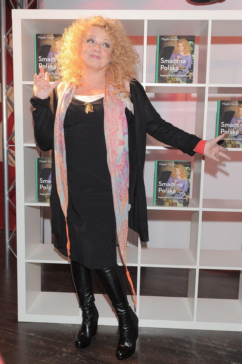 Magda Gessler w czarnej sukience