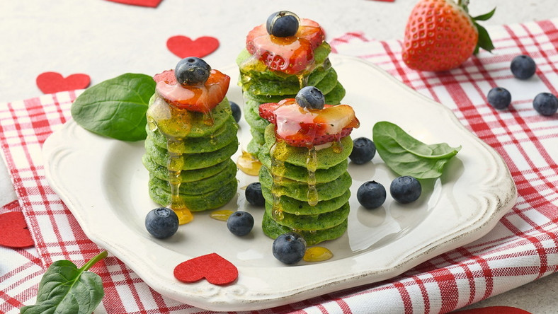 Zielone miniplacuszki z owocami