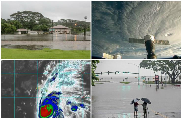 Havaji uragan kolaž