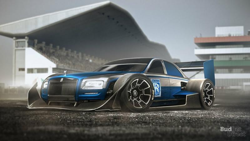 Rolls-Royce Phantom - wizualizacja bolidu Formuły 1