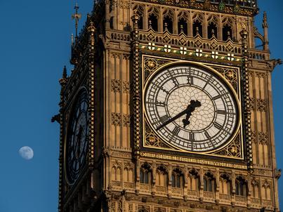 Big Ben to jeden z symboli Londynu. Dzwon bije od 1859 roku