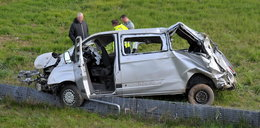 Bus spadł ze skarpy pod Szczecinem. 7 osób w szpitalu