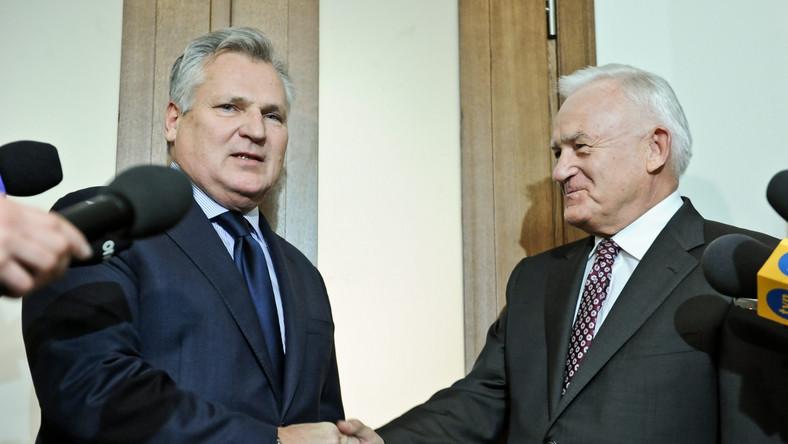 Przewodniczący Sojuszu Lewicy Demokratycznej Leszek Miller i były prezydent Aleksander Kwaśniewski