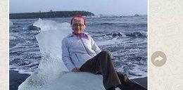 Babcia usiadła na lodowym tronie i... odpłynęła