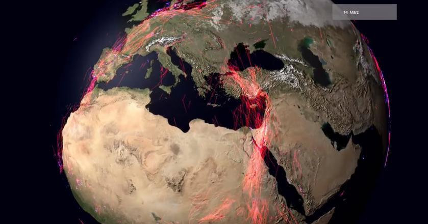 Migracje zwierząt zaprezentowano na animowanej mapie