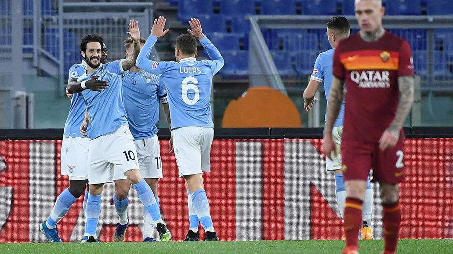 Radość piłkarzy Lazio Rzym