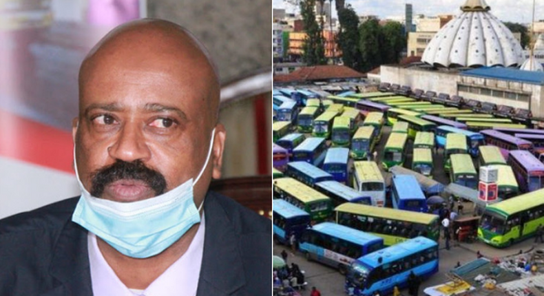 NMS boss Mohamed Badi and a file image of Bus Station area near Muthurwa market