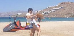 Aktorka pobita na plaży! Jest film postronnego świadka