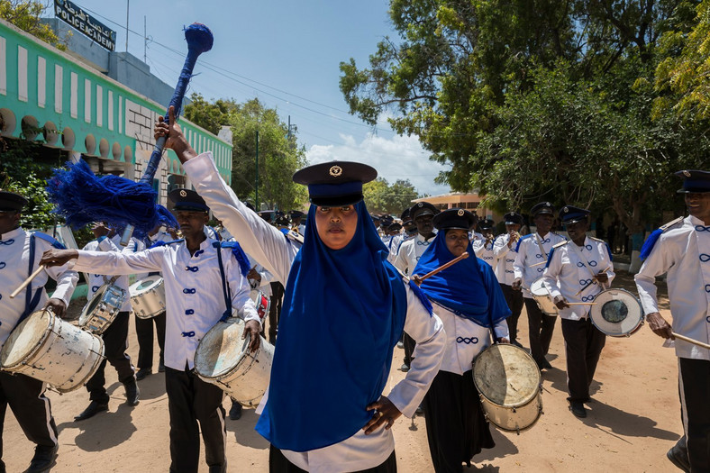 Mogadishu police band. (Time Magazine)