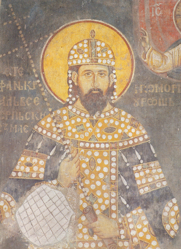 Freska kralja Milutina u Crkvi Sv. Ahilija u Arilju, 1296.