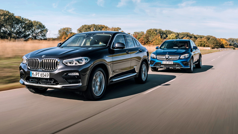 BMW X4 xDrive 20d kontra Mercedes GLC 250 d 4Matic Coupe
