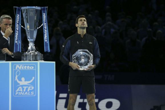Detalj sa finalnog meča završnog mastersa u Londonu ove godine u kome su u finalu igrali Novak Đoković i Aleksandar Zverev
