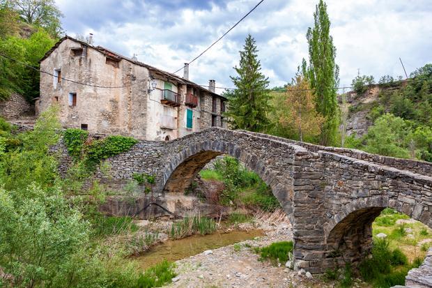Wioska Montanana, w prowincji Huesca