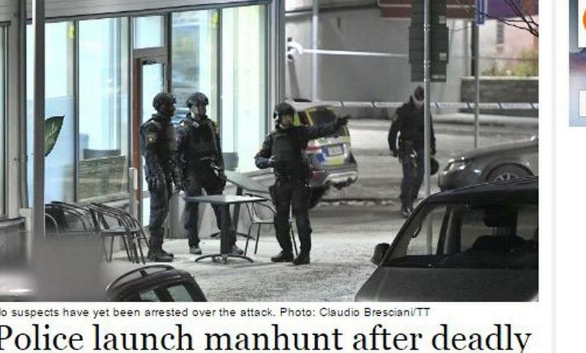 Strzelanina w centrum Sztokholmu. Dwie osoby nie żyją