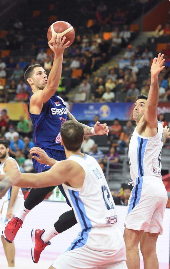 Jović na meču Srbija - Argentina