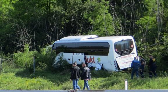 Mesto na kom je autobus sleteo s puta