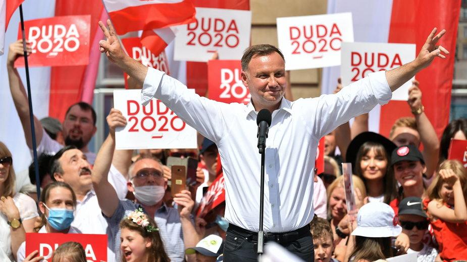 Wybory 2020. Andrzej Duda we Wrocławiu