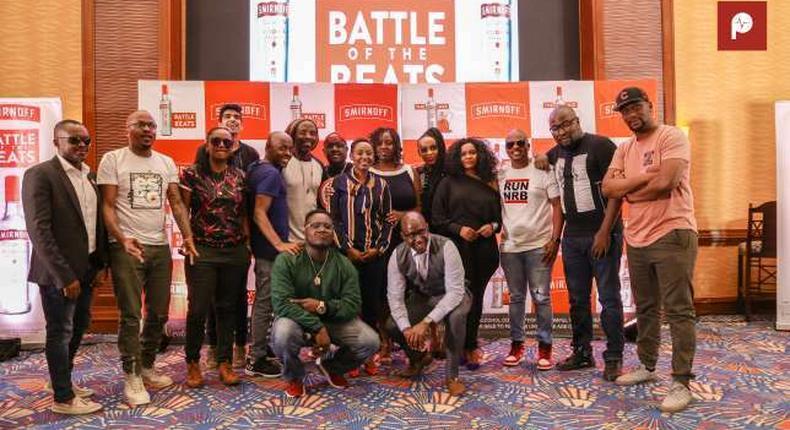 Contestants at Smirnoff Battle for the Beats. Smirnoff Battle of the beats to bring Mombasa to a standstill