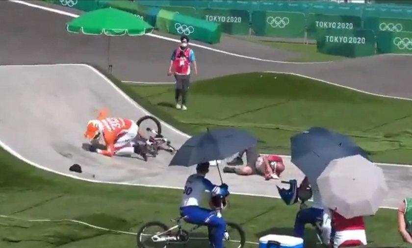W poniedziałek na treningu doszło do groźnie wyglądającego wypadku z udziałem kolarza BMX i... sędziego