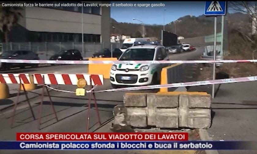 Pijany polski kierowca tira zablokował wiadukt we Włoszech