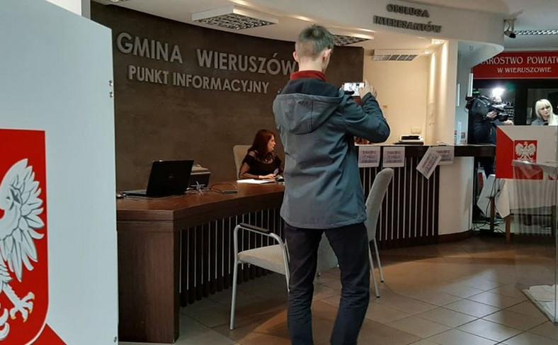 Wybory w Wieruszowie fot. Dorota Kalinowska
