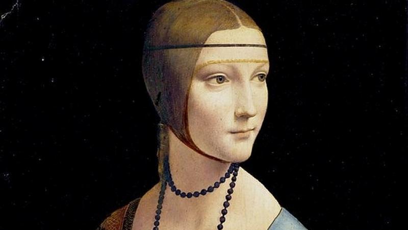 Najważniejszym eksponatem z kolekcji Czartoryskich jest Dama z gronostajem Leonarda da Vinci