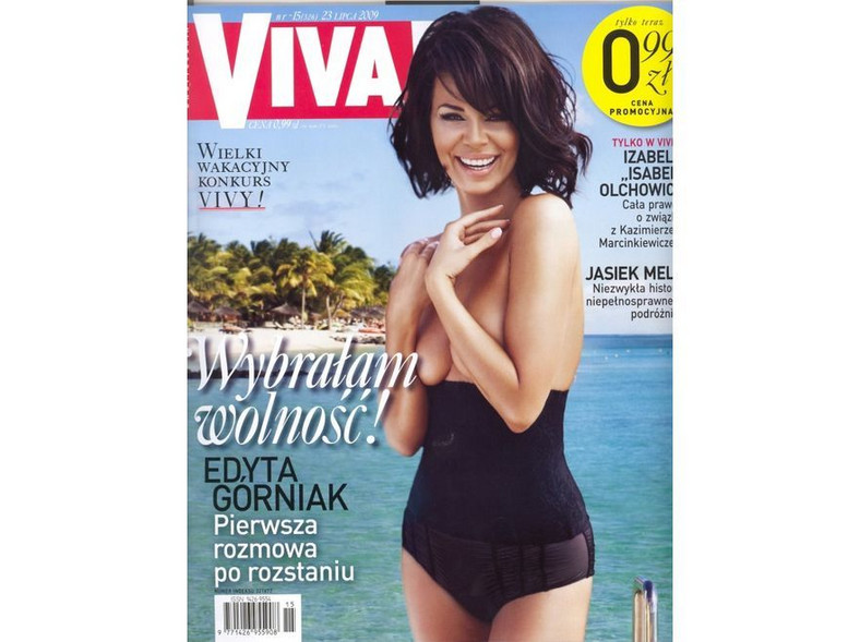 """Edyta Górniak na okładce magazynu """"Viva"""". Źródło: """"Viva"""""""