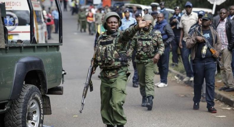 File image of Kenyan security forces on duty