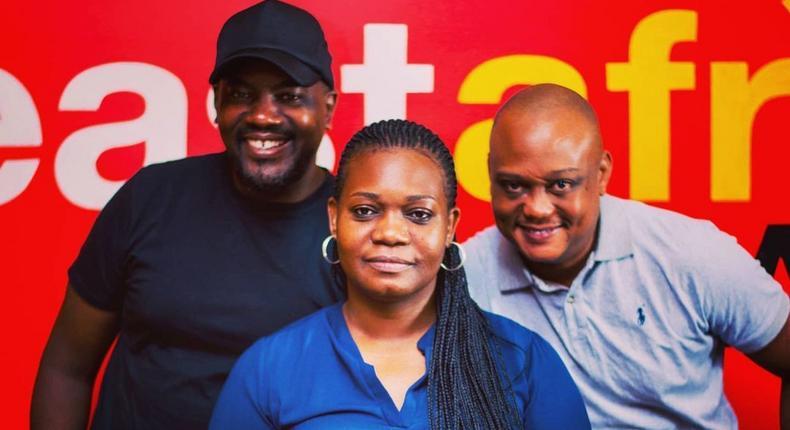Tinah Korosso, Evans Bukuku and Bobby Mongi.