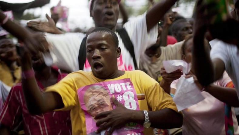 Zwolennicy Michela Martelly'ego cieszą się z jego zwycięstwa